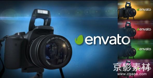 AE模板-单反相机标志动画片头 Photo Logo