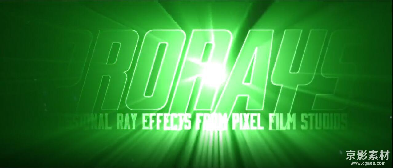 FCPX插件 ProRays-60种文字标题LOGO放射光线扫光效果