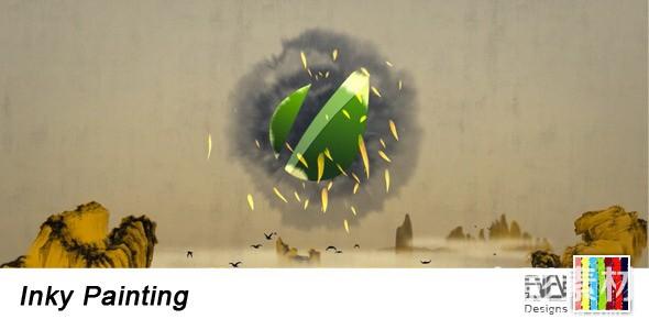 AE模板-中国风水墨绘画片头 Inky Painting