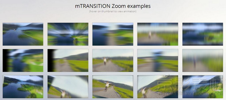FCPX转场插件 MotionVFX mTransition Zoom-50种动感模糊冲击缩放转场效果