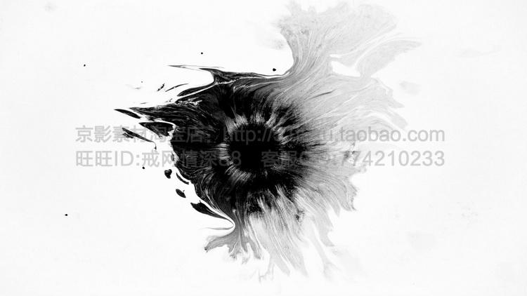 Ink Footage-20组水墨低落水中散开高清视频素材