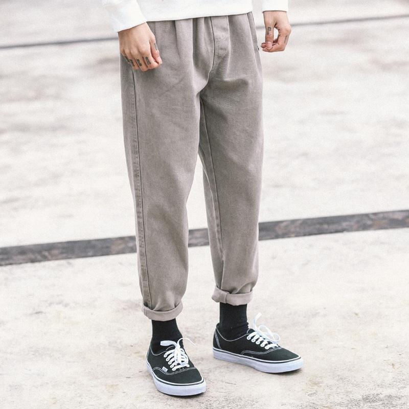 Токио гардероб твердый прямо брюки брюки европа и америка ретро механическая обработка молодежь прилив бренд брюки харлан брюки мужчина