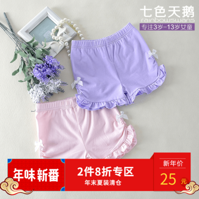 Girls shorts summer 2017 new pants children's clothing cotton leggings children baby casual home pants thin