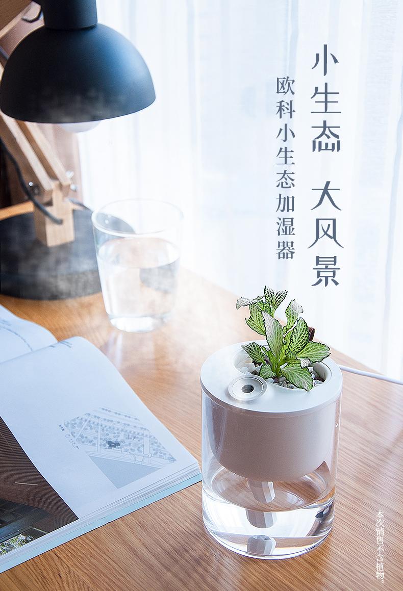 可种植物 欧科 S1 静音小型生态杯空气加湿器 天猫优惠券折后¥49包邮(¥129-80)