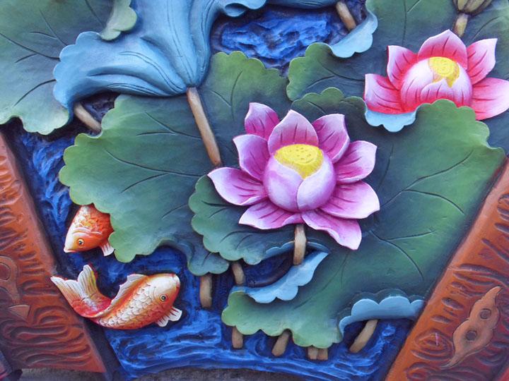 Деревянная резная фигурка Домой декоративной живописи подарок растение рододендрон дерево в Юньнань Лицзян Донгба резные веерообразные древесины лотоса цвет тиснением Бесплатная доставка