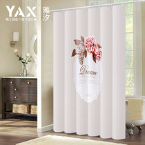 Bathroom shower curtain Set free punching bathroom curtain partition curtain Waterproof thickening
