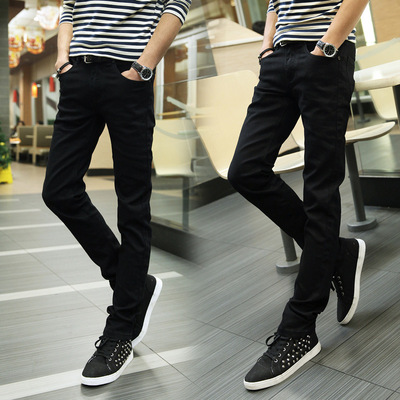 Tide men spring and autumn fashion fall and winter installed Korean version of the non-mainstream men's casual pants Slim pants trousers pants