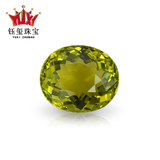 Special offer 2.70 carats natural Brazilian yellow-green full body tourmaline bare stone ring/inlaid tourmaline ring pendant