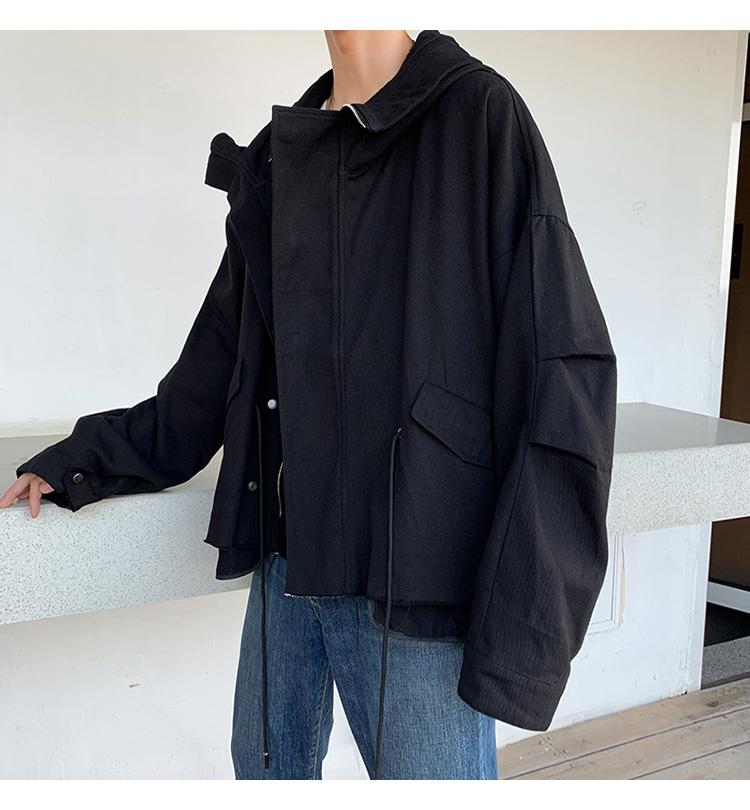 DSB239-J2002-P88 连帽夹克男宽松落肩袖夹克