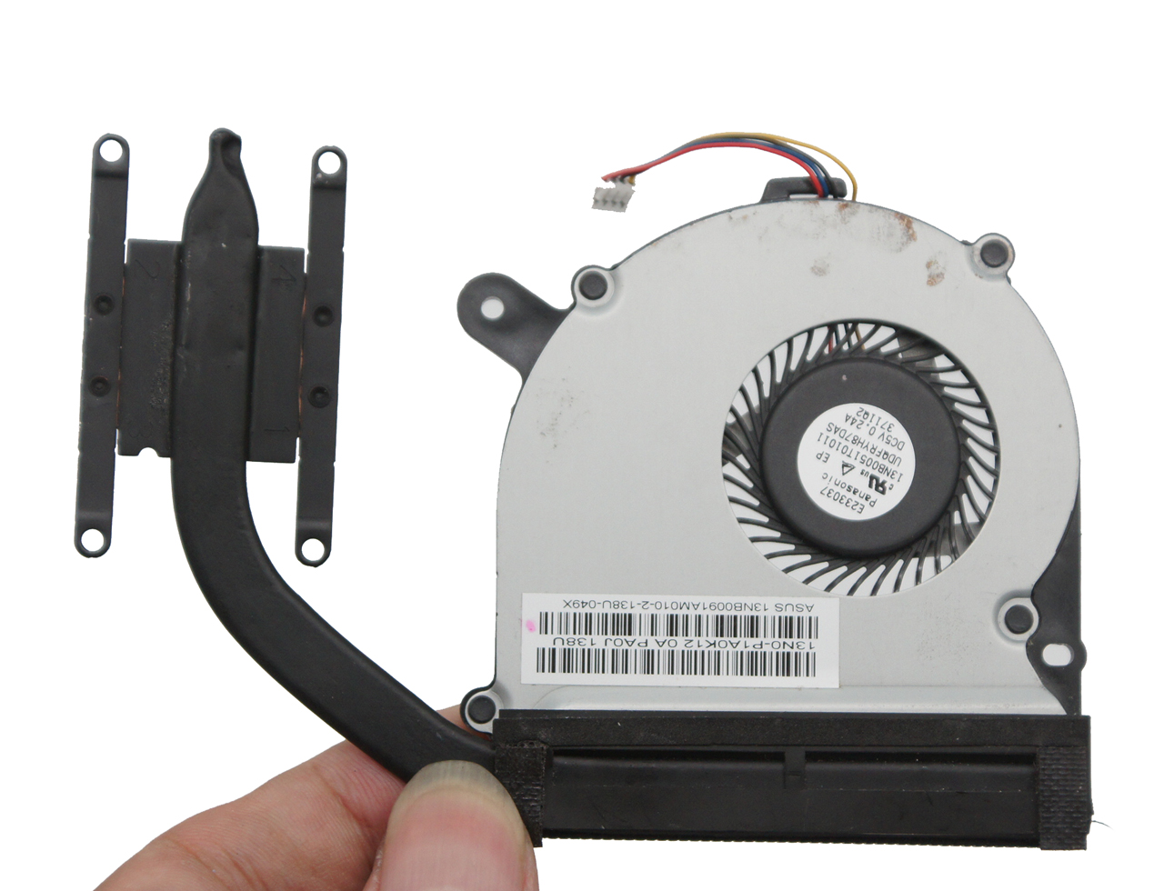 新到65pcs 13N0-P1A0K1213N0-P1A0K11 UDQFRYH87DAS heatsink and fan For ASUS 散热器 模组 风扇