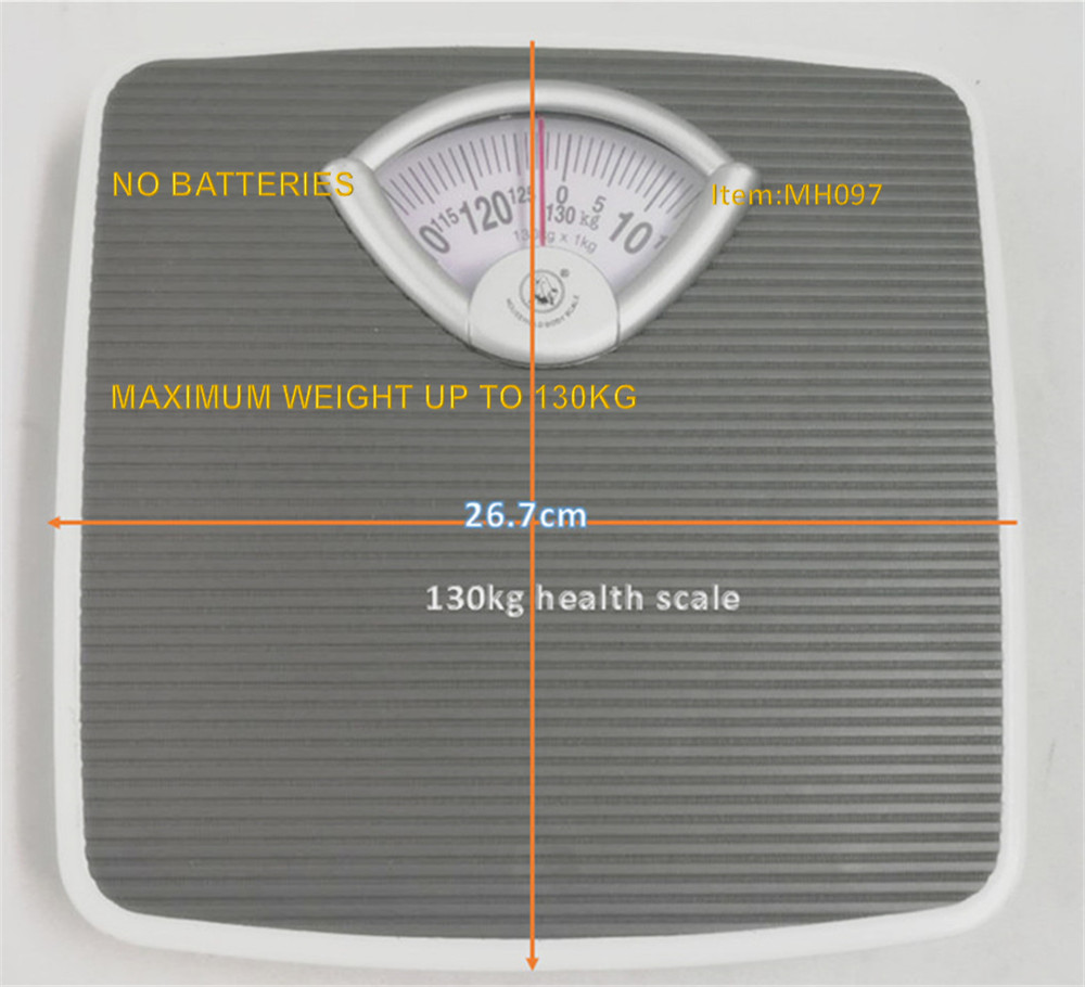 130kg Mechanical Personal Bathroom Gym Body Weight Scales