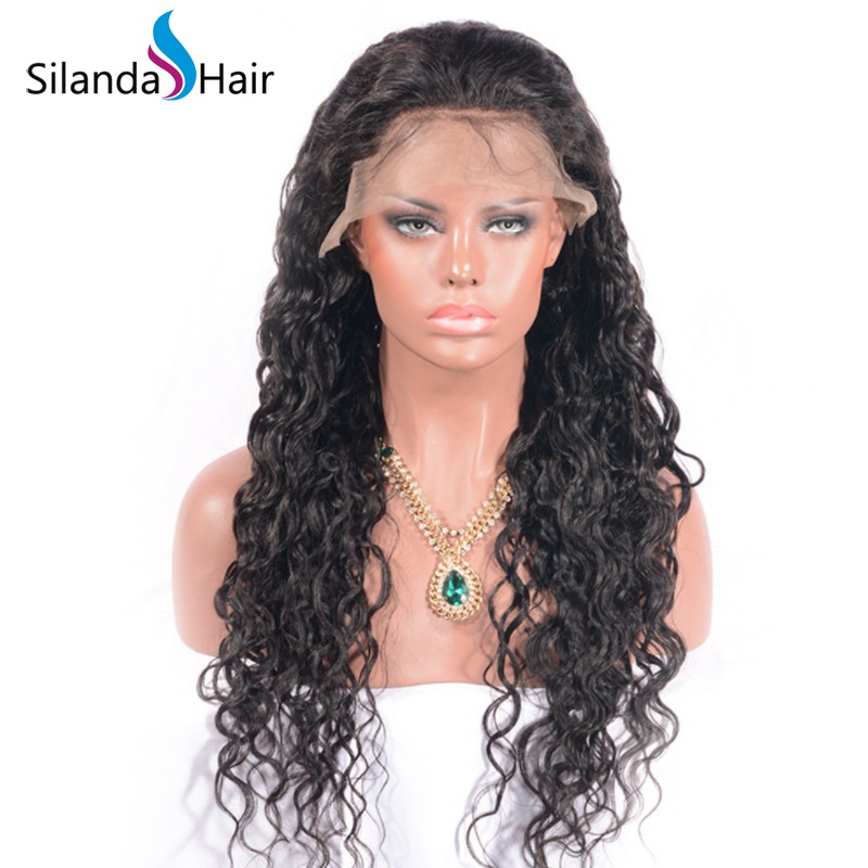 Silanda Hair Top Seller Natural Color Water Wave Brazilian Remy Human Hair Lace Front Full Lace Wigs