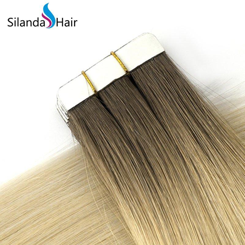 Silanda Hair #R10/60 Luxury Remy Skin Weft