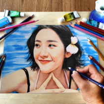 sketch painting painting pictures like sketch custom pencil self-painting portrait