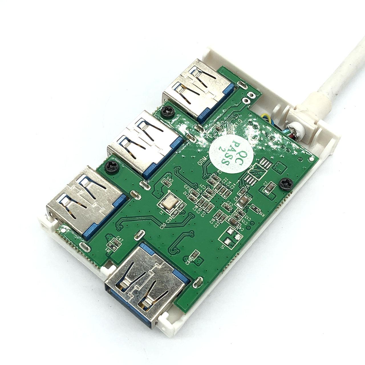 拆解Type c 转USB3.0 转换器头 集线器USB C TO USB A Adapter 4 x USB A 3.1 Gen1 5Gb/s Adapter VLI813-Q7