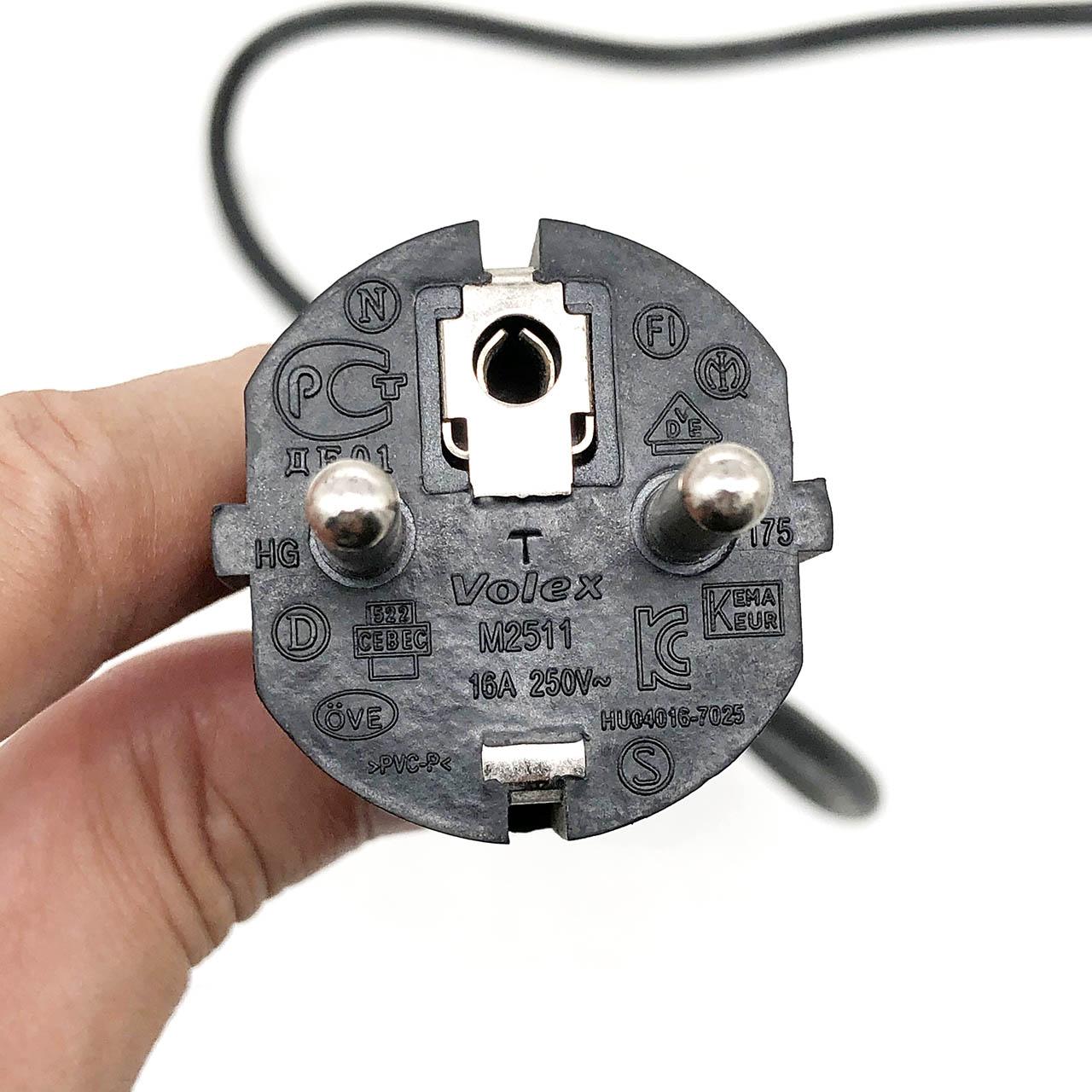豪力士Volex M2511 16A 250V 3G0.75m㎡ 平方 梅花尾插 电源连接线 纯黄铜 法式插头 通用笔记本电源线2014年BAOHING CEBEC Power cable 黑
