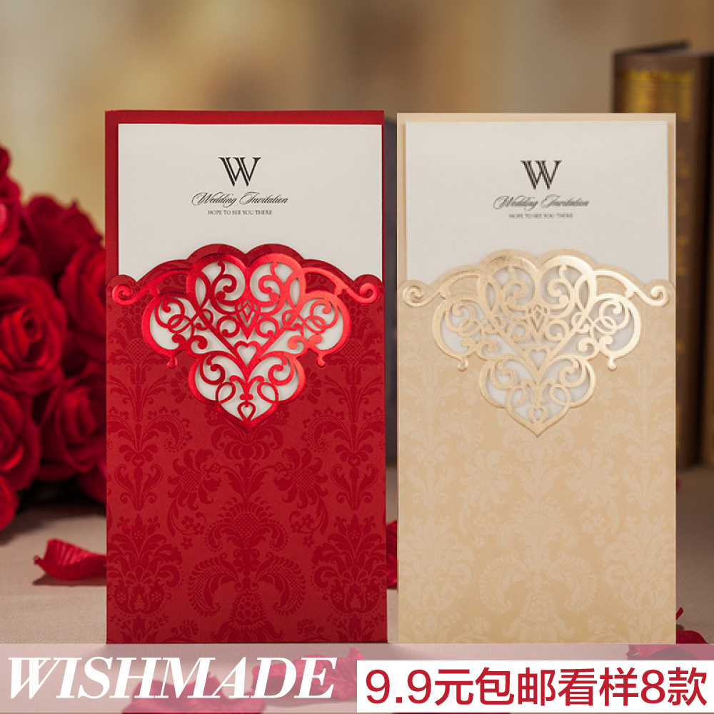USD 4.95] Wedding invitations Korean invitation wedding creative ...