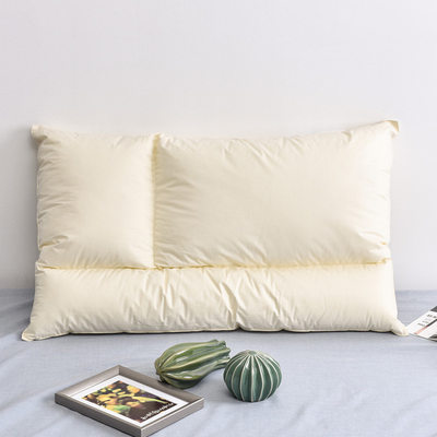 Nordic pure cotton soft three-dimensional shape feather velvet pillow core neck protector high-end single zone pillow