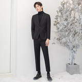 CSO autumn and winter men's Korean style slim small suit light business casual handsome groom suit trendy formal wear