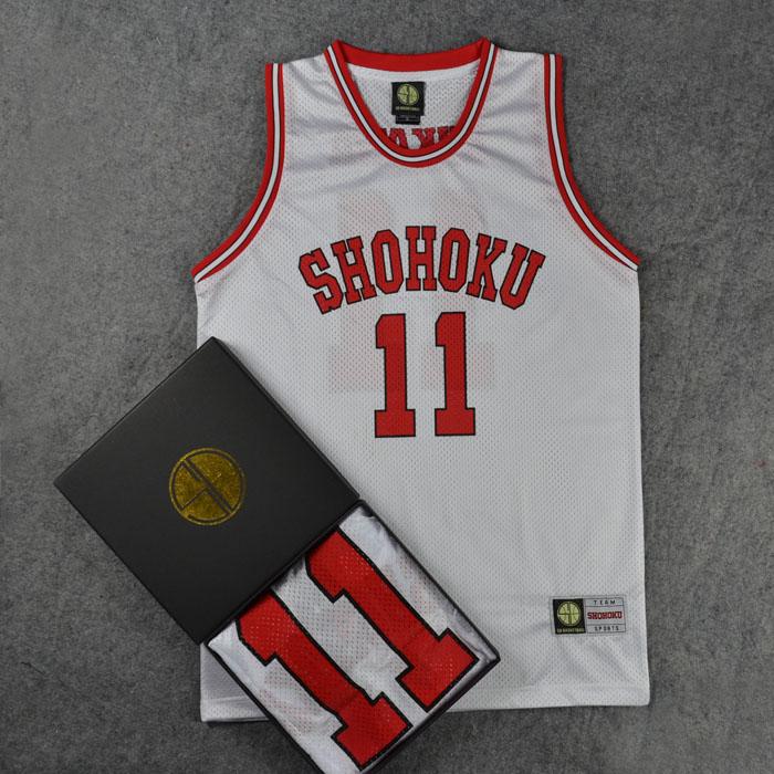 одежда для занятий баскетболом СД, мяч, одежда обучение одежда уличный баскетбол Джерси shohoku № 11, в потока цюань клен баскетбол одежда баскетбол Джерси жилет черный