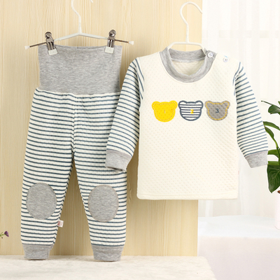 0-1-2-3 years old baby underwear cotton autumn clothes autumn and winter children men and women baby thermal underwear suit thickened