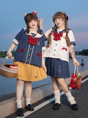 taobao agent Hard candy large size original Baixue kindergarten cute jk pleated skirt fat mm Japanese suit skirt summer new style female