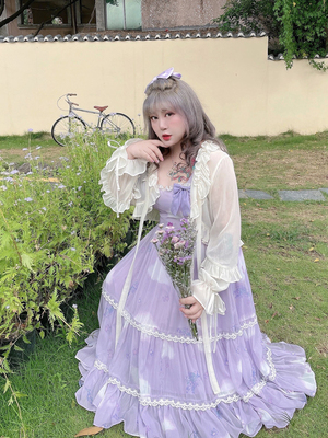 taobao agent Hard candy large size original new floral sling dress 2021 spring and summer girl covering meat and thin chiffon long skirt