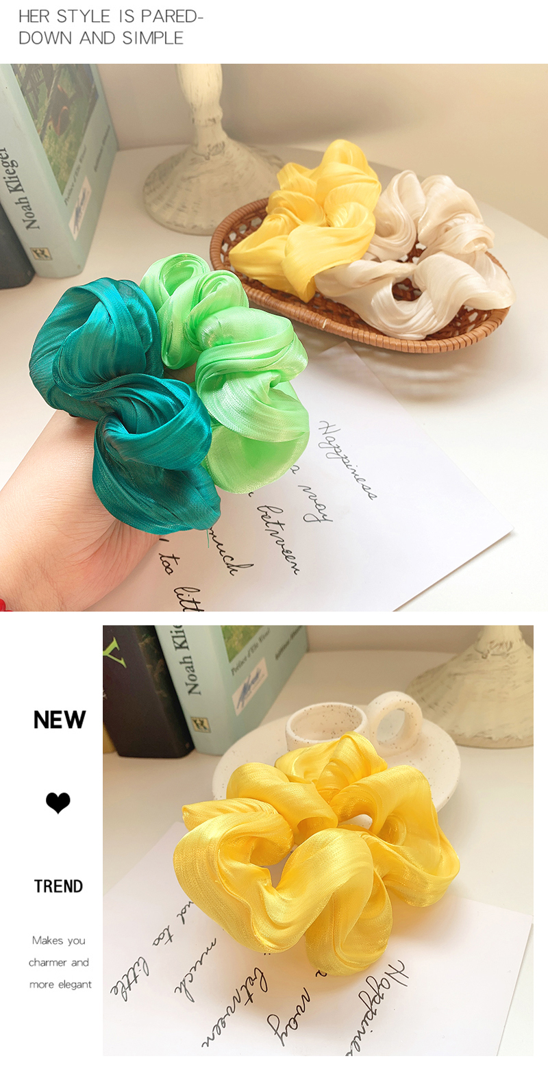 Fresh summer candy color hair ring girl heart flower color ponytail hair NHOF201063