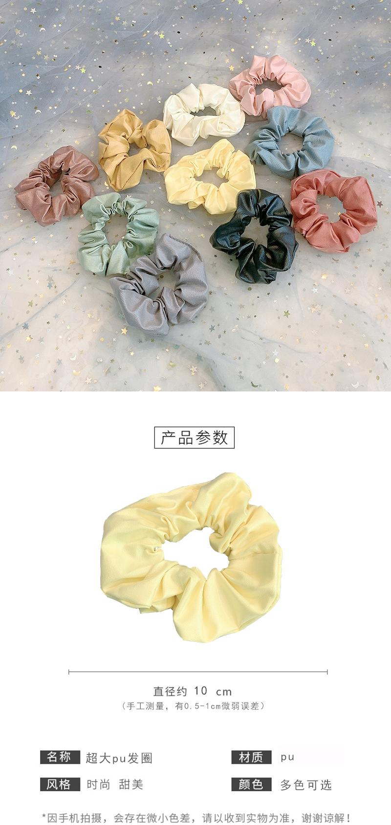 Cuerda de pelo coreano femenino de intestino grueso retro simple albóndiga pelo círculo piel cabeza cuerda cuerda accesorios para el cabello NHOF197028