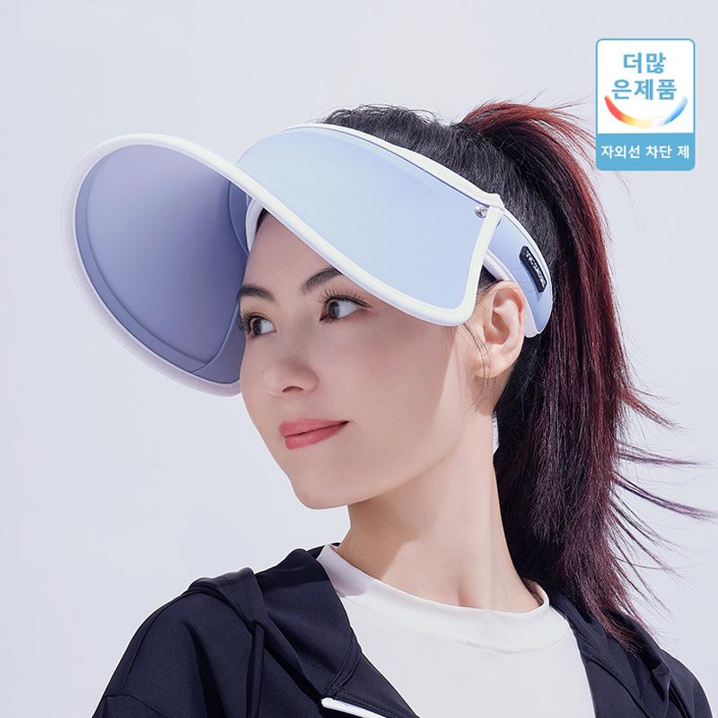 VVC防晒帽女空顶防紫外线全脸遮阳帽太阳帽子运动夏季骑车大帽檐