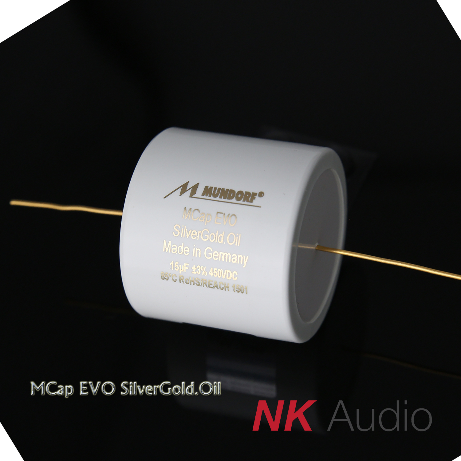 Mundorf Mcap EVO gold and silver oil immersion series audio coupling  capacitor divide capacitor oil immersion capacitor