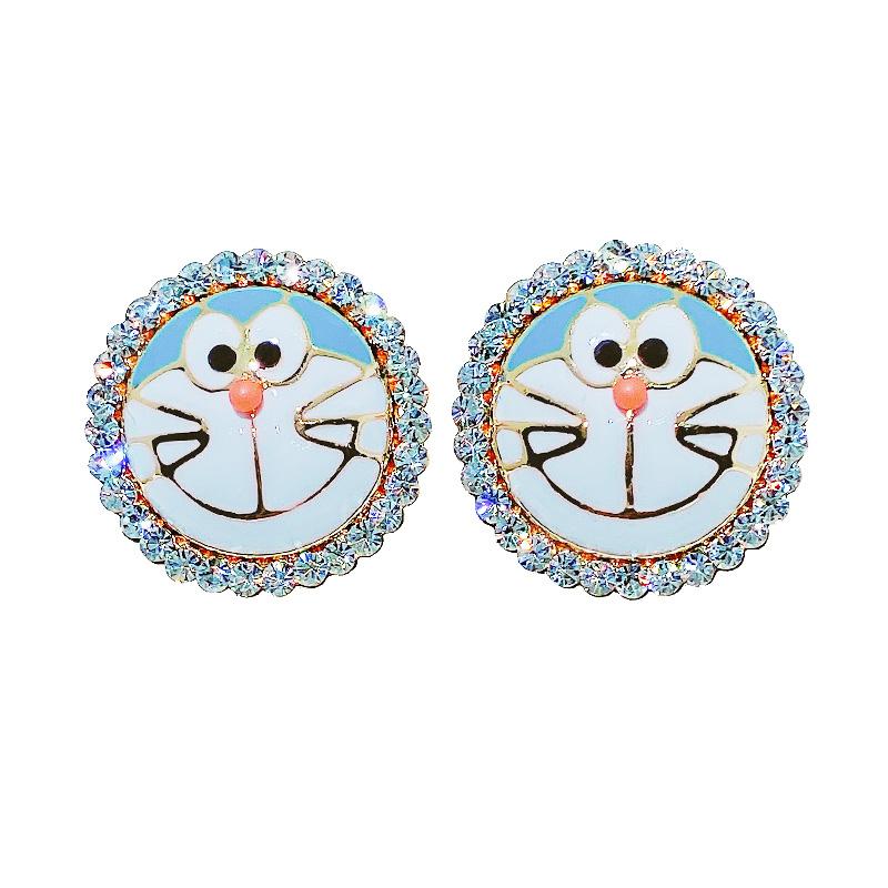 时尚可爱机器猫咪耳钉新款耳环批发价格12.50元,批发,义乌,市场,进货,货源,批发网,批发市场