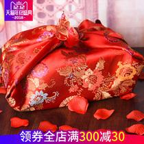 Sizawa Wedding red cloth hi basin parcel cloth chinese wedding red baggage skin