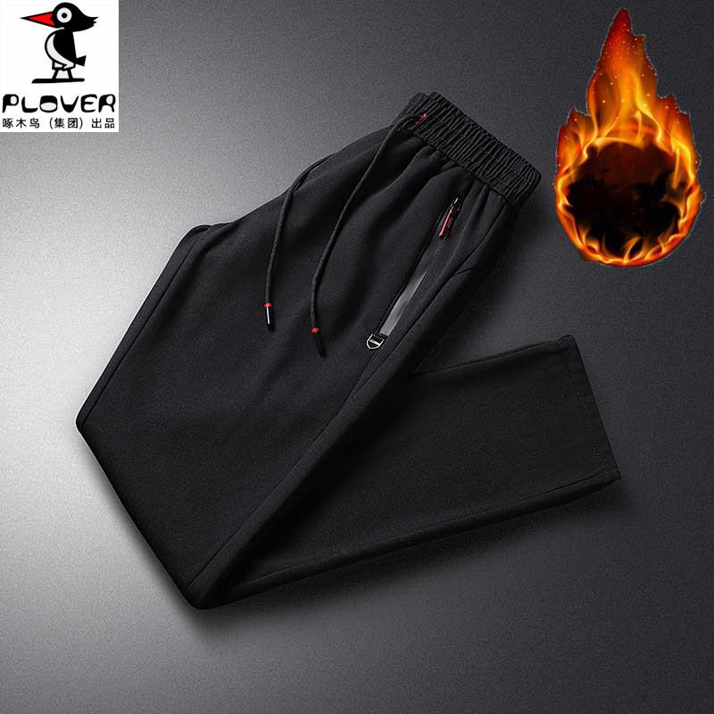 啄木鳥男士冬裝新款加絨運動褲