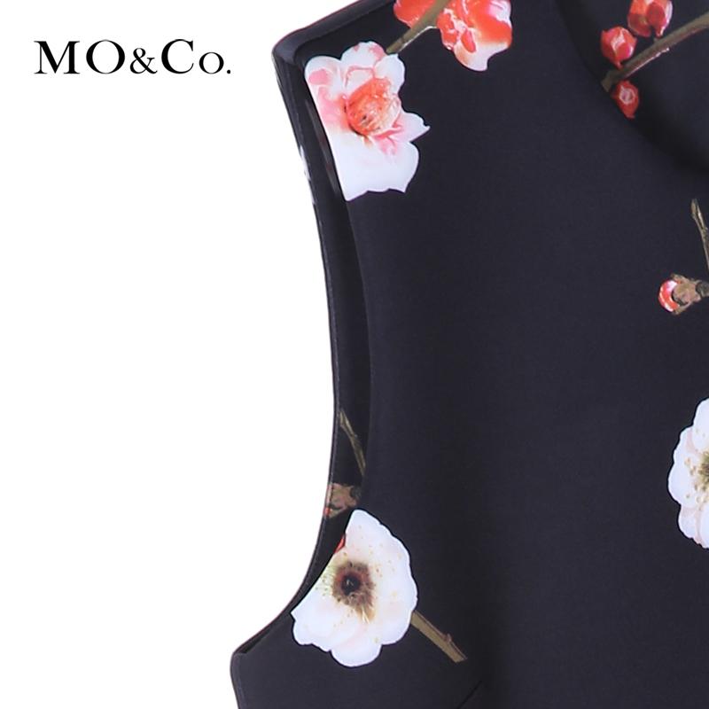 MOCO nữ mùa xuân váy mận không tay vest Một từ ô váy váy ngắn MA161SKT16