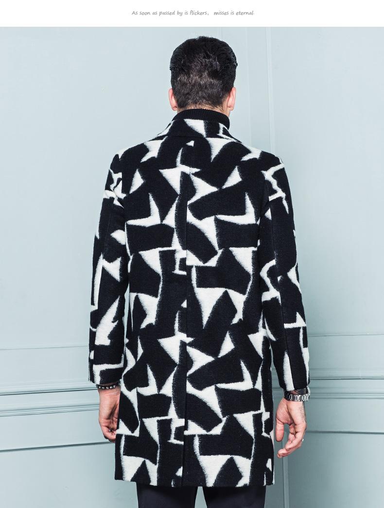 Chụp ảnh một nửa giá kiến thanh niên áo khoác mỏng của nam giới trong phần dài của thời trang giản dị len áo gió áo gió