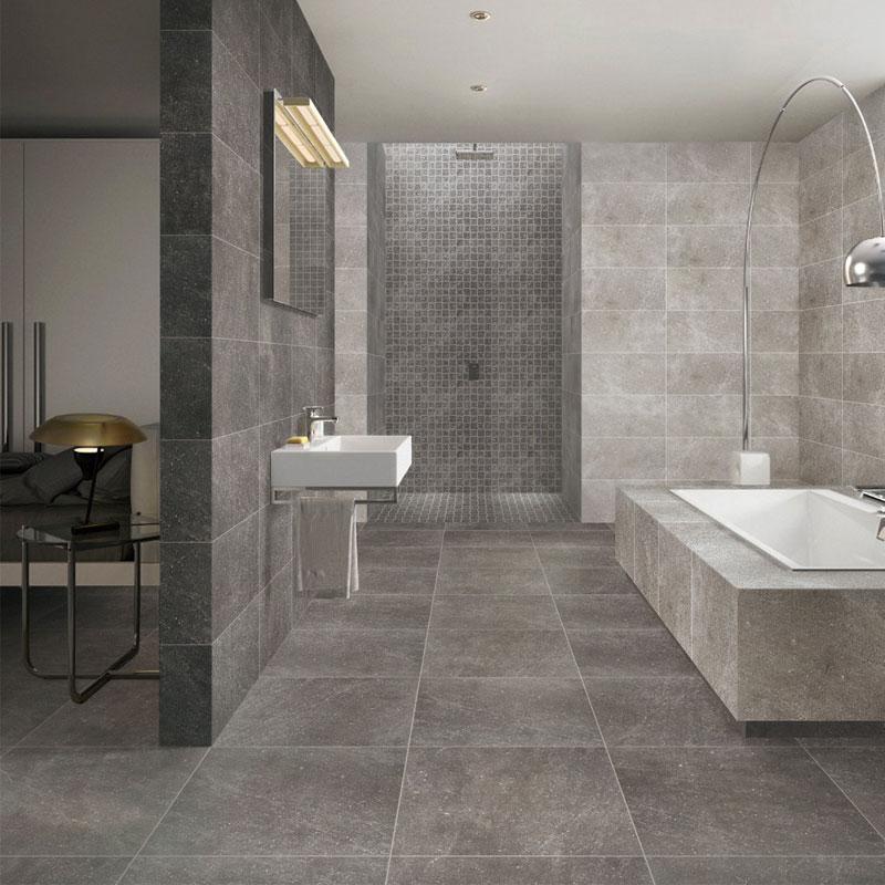 Industrial Cement Gray Brick Wall Fanghuadezhuan Retro Antique Brick Tiles Terrazzo Floor Tiles 600