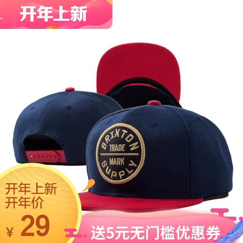 平沿帽 男 潮 嘻哈帽街头滑板帽平檐帽子女士韩版字母棒球帽春夏