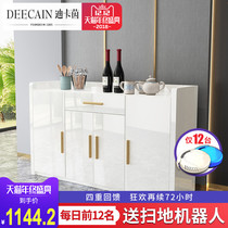 Modern minimalist white paint dining cabinets restaurant home Living room lockers