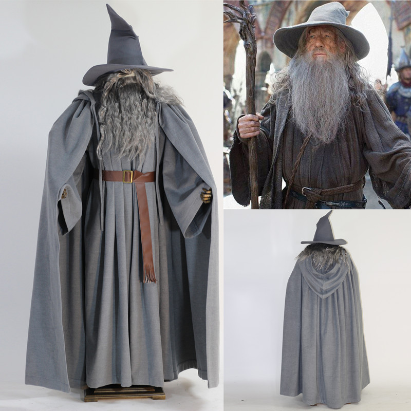 Gandalf the Gandalf witch Ring Wang Hobit man cosplay costume suit Grey cloak cape & USD 26.58] Gandalf the Gandalf witch Ring Wang Hobit man cosplay ...
