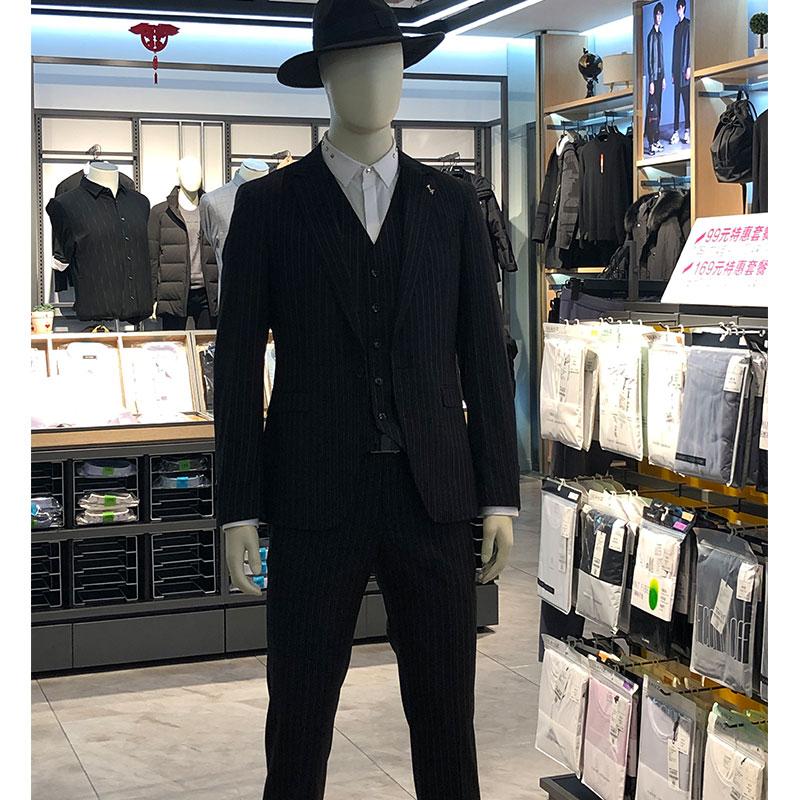 利郎正品西服男装2019冬潮款v正品专柜套装19CXF071SA