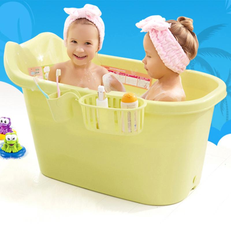 Baby bath tub thickening children\'s bathing bucket in the big ...