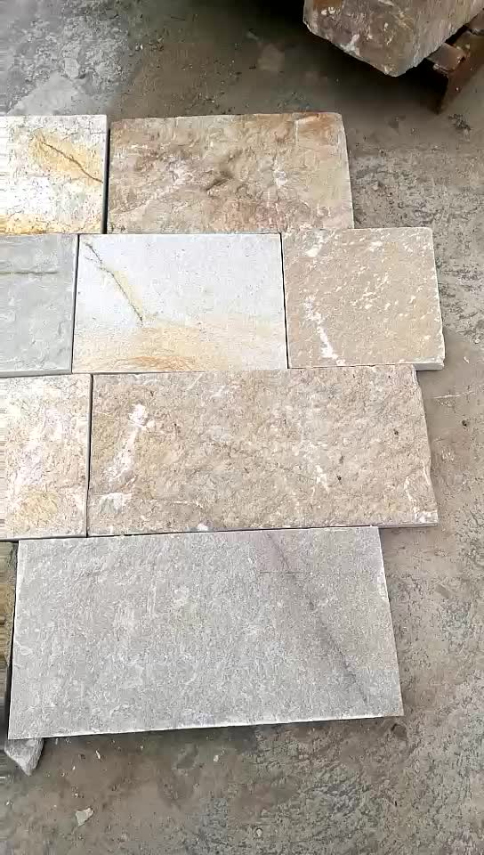 China factory direct supply beige natural exterior stone tiles for floor and wall
