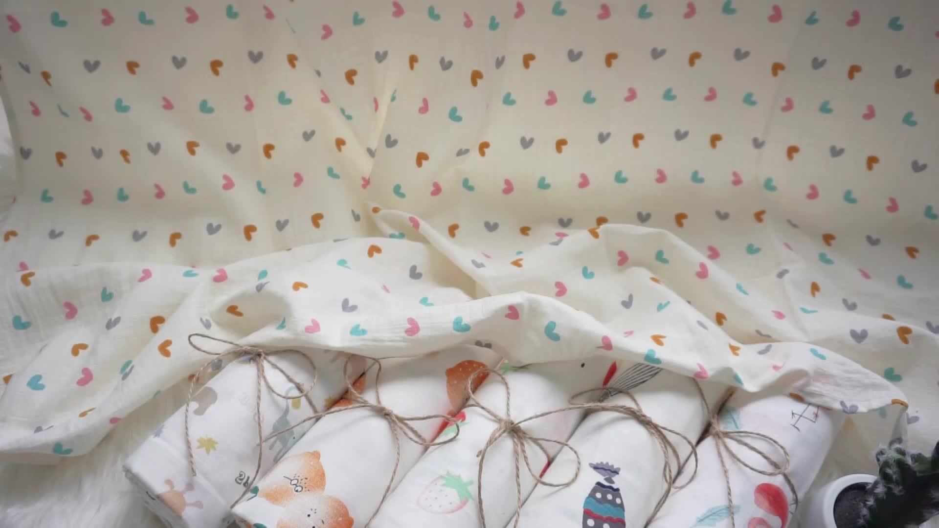 Best price super soft joyous pattern 100% cotton wrap baby muslin swaddle blanket