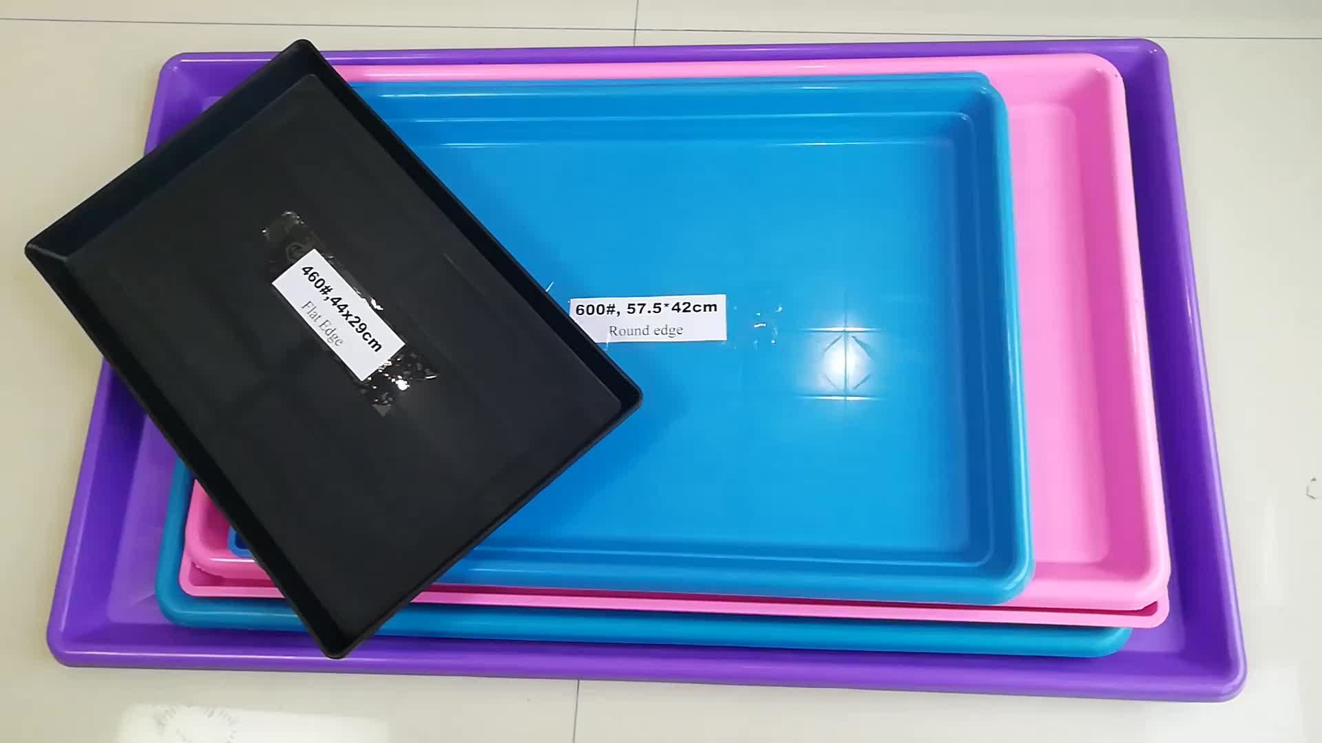 Цветной пластиковый поднос для клетки для собак
