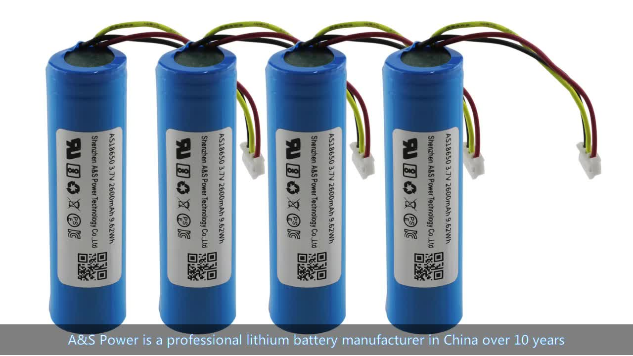UL1642/UL2054/CB/KC/BIS certified 18650 3.7V 2600mah lithium ion battery with UN38.3