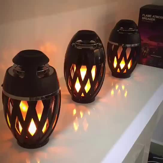 WILIT novelty flame effect waterproof LED lamp night light with TWS bluetooth speaker