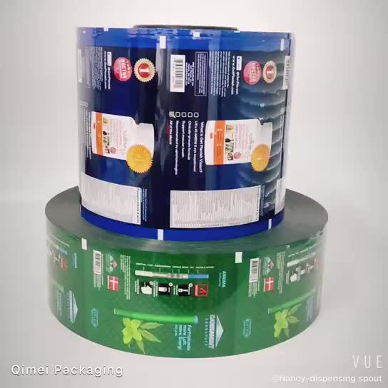 PET/VMPET/PE laminasyon aperatif fındık ambalaj 125 mikron gıda sınıfı plastik folyo rulosu patates cipsi için