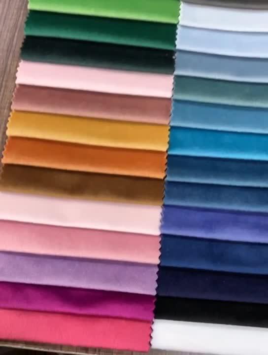 Cina Produk Multi Warna Desain Belanda Beludru Polyester Knit Sofa Kain untuk Furniture Tekstil
