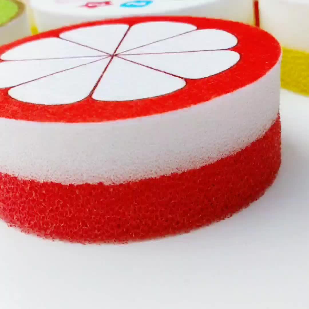 Neue Design Obst Form Küche Schwamm Für Küche/Haushalt Reinigung